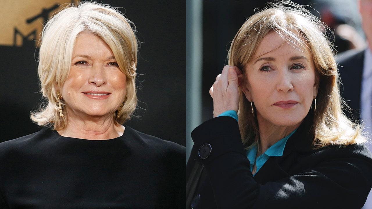 Martha Stewart mocks Felicity Huffman's prison style: 'She looked pretty schlumpy'