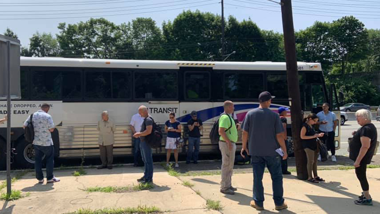 New Jersey bus rider injured after sitting in sulfuric acid, officials say
