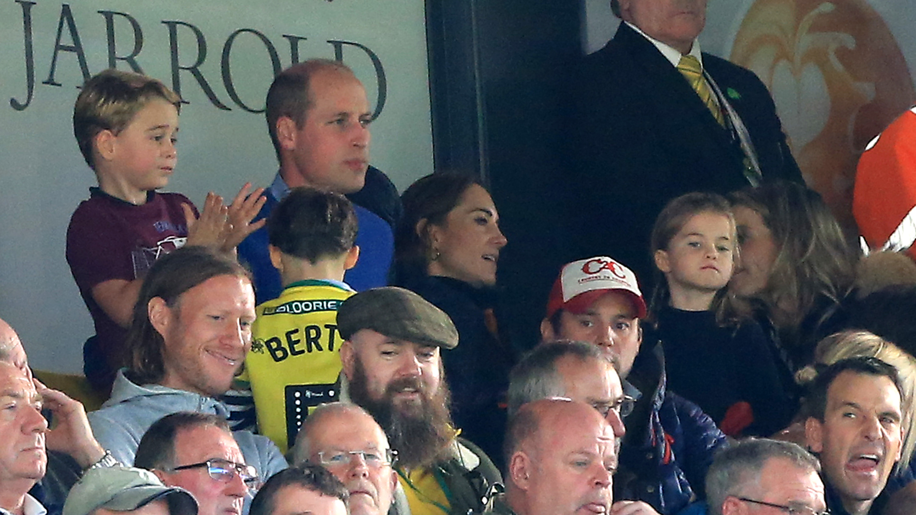 Prince William, Kate Middleton take George and Charlotte to cheer on Aston Villa vs Norwich