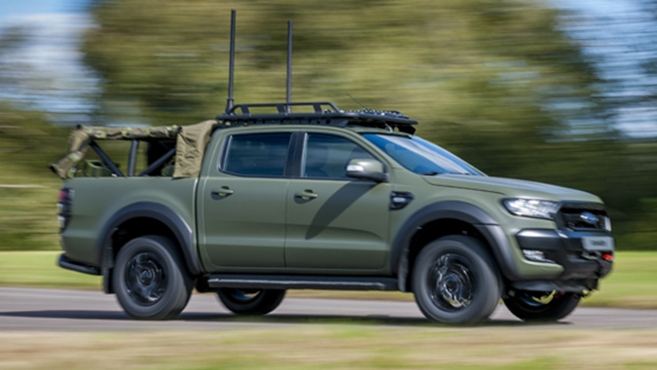 Ford Ranger pickup modified for the military