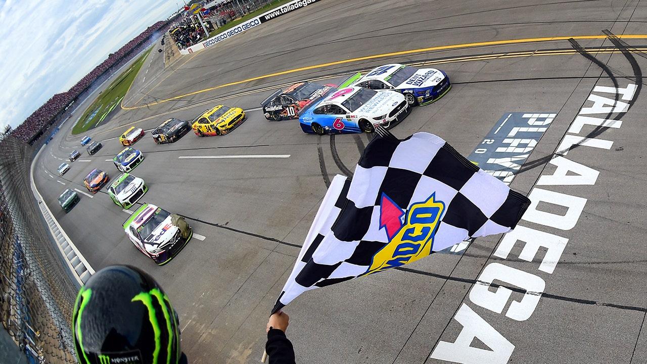 Blaney wins rain-delayed Talladega NASCAR playoffs race in photo finish