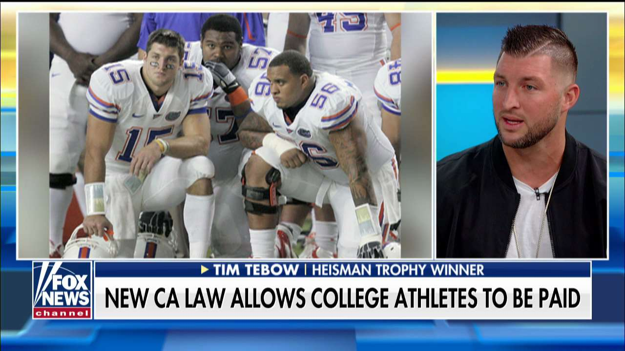 Tim Tebow on college athletes getting paid: 'We don't want to turn college football into the NFL'