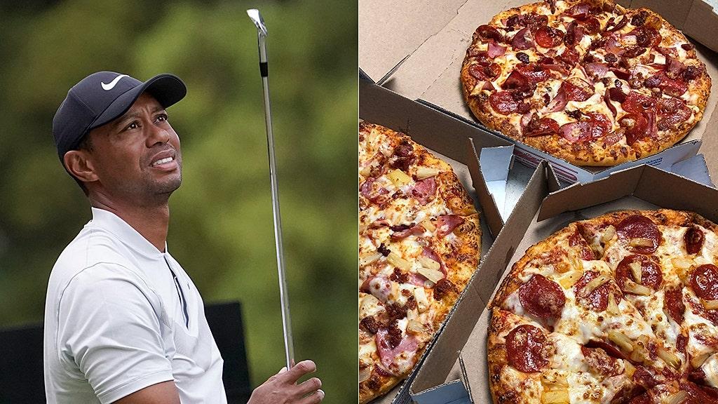 Tiger Woods, άλλα γκολφ superstars κολλήσει στην Ιαπωνία Ντόμινο κατά τη διάρκεια σοβαρή καταιγίδα