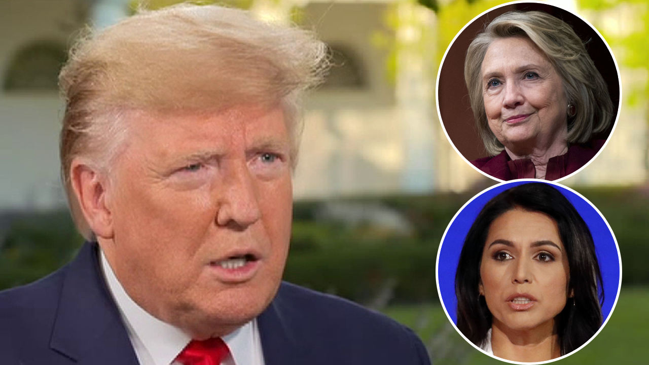 Trump reignites feud with Hillary Clinton, bashes her recent attacks on Tulsi Gabbard, Jill Stein