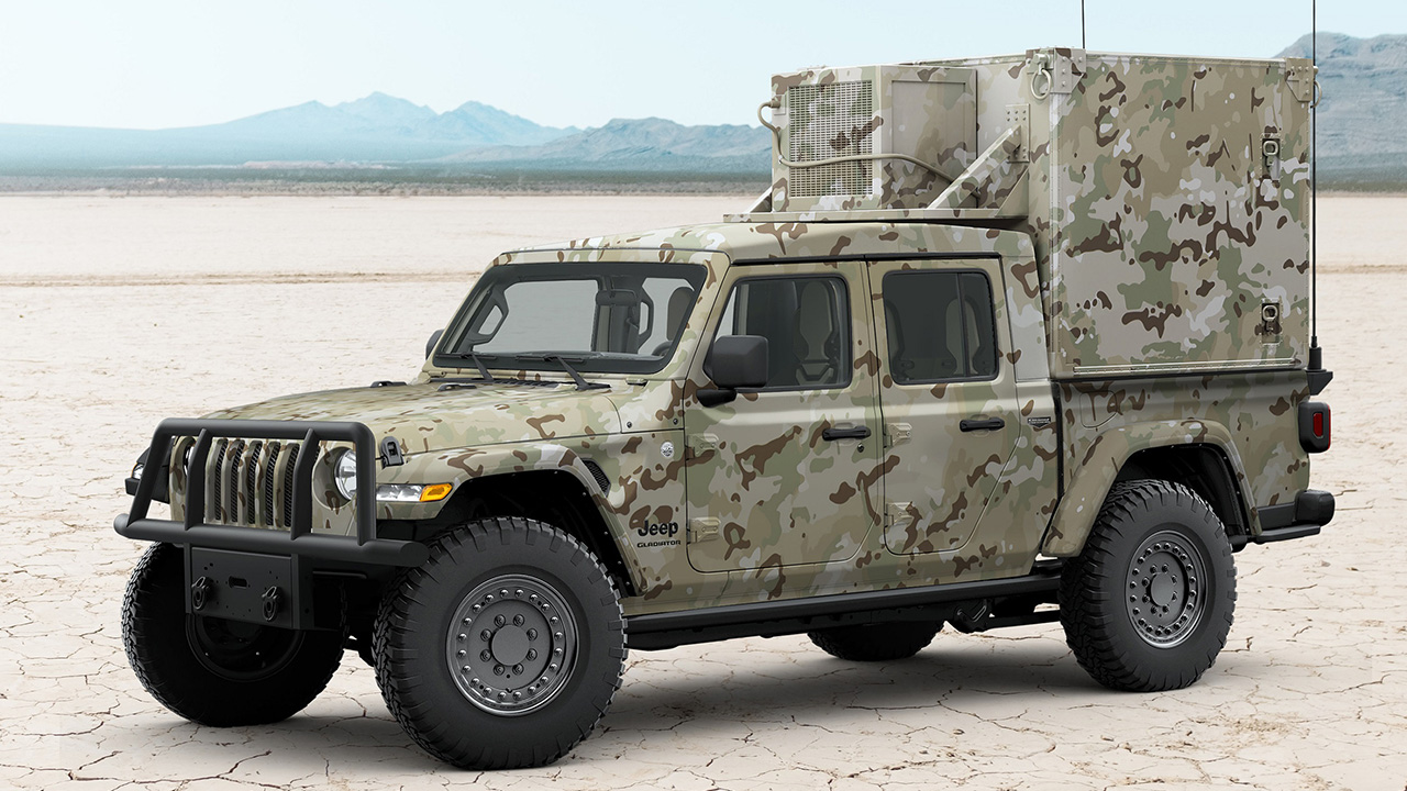 Jeep, AM General team up on military-spec Gladiator pickup