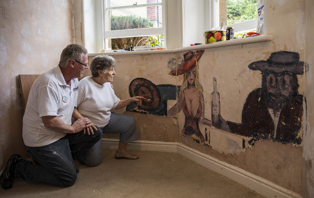 WWII-era racy paintings discovered at English nursing home