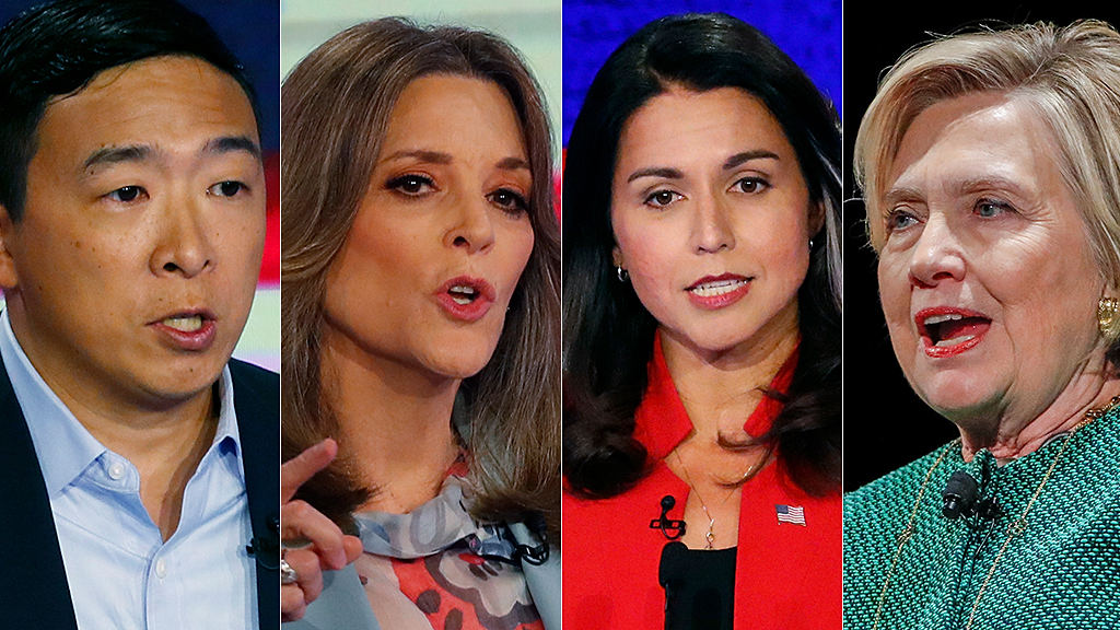 Westlake Legal Group yang-williamson-gabbard-clinton-AP Tulsi Gabbard backed by 2020 Democrat candidates in Hillary Clinton 'Russian asset' row Julia Musto fox-news/politics/the-clintons fox-news/politics/elections/democrats fox-news/politics/elections fox-news/politics/2020-presidential-election fox news fnc/politics fnc b792fc7f-653d-5b23-9520-a4c0b722f95c article