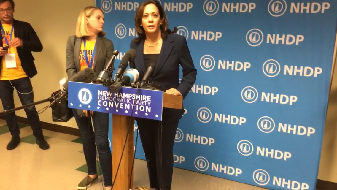 Kamala Harris lays off staff, shuts offices in New Hampshire