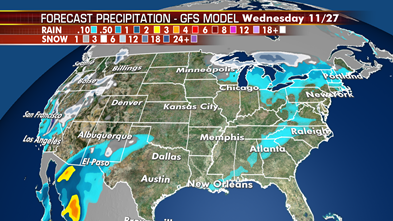 Thanksgiving travel headaches continue with two strong storms impacting millions