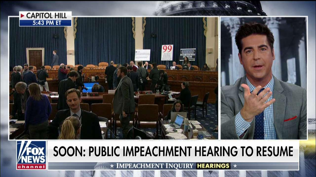 Jesse Watters: Impeachment hearing 'a bunch of cliques of people talking about their feelings'