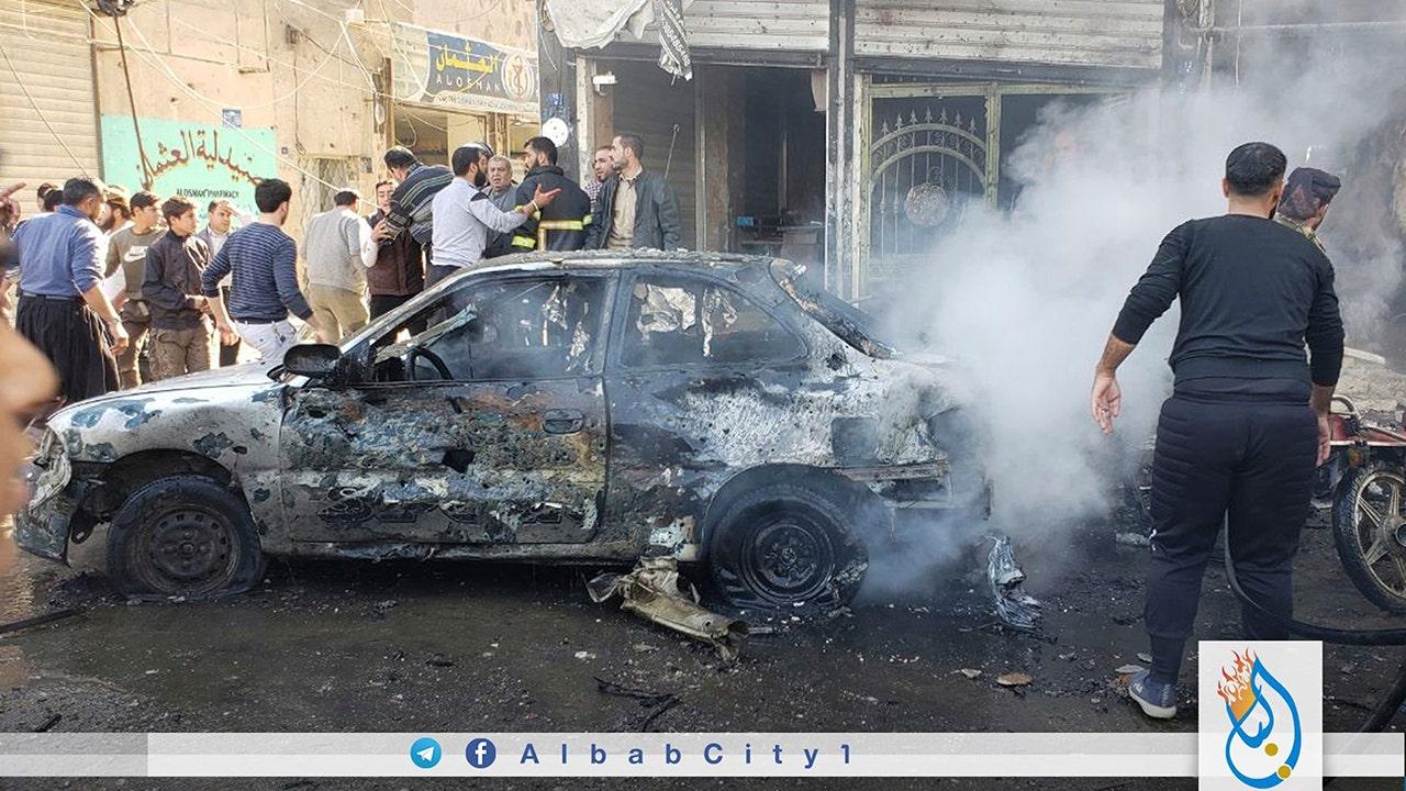 自動車爆弾に岩シリアの町で開催されるトルコ、十数の死者