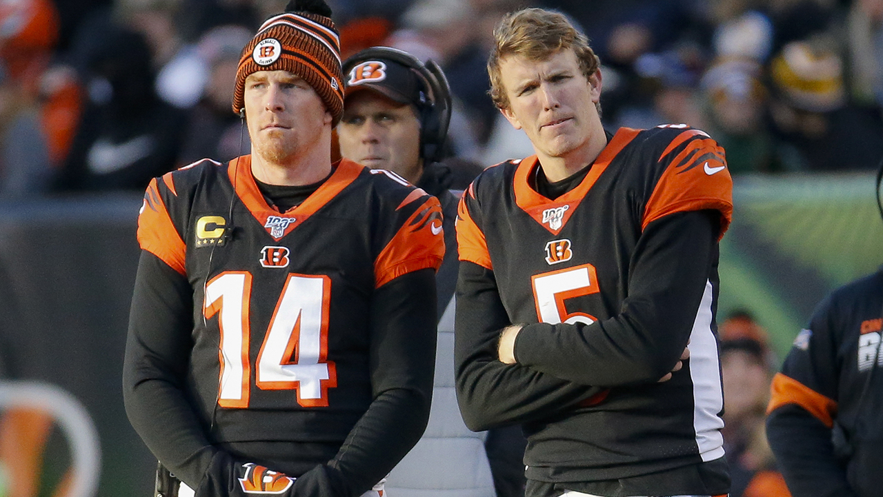 Westlake Legal Group Andy-Dalton-Ryan-Finley Cincinnati Bengals fan who lived on roof until team won game returns home after 57 days Ryan Gaydos fox-news/sports/nfl/cincinnati-bengals fox-news/sports/nfl fox news fnc/sports fnc article 73dae72c-f5f1-5c05-979b-cf52742ea873