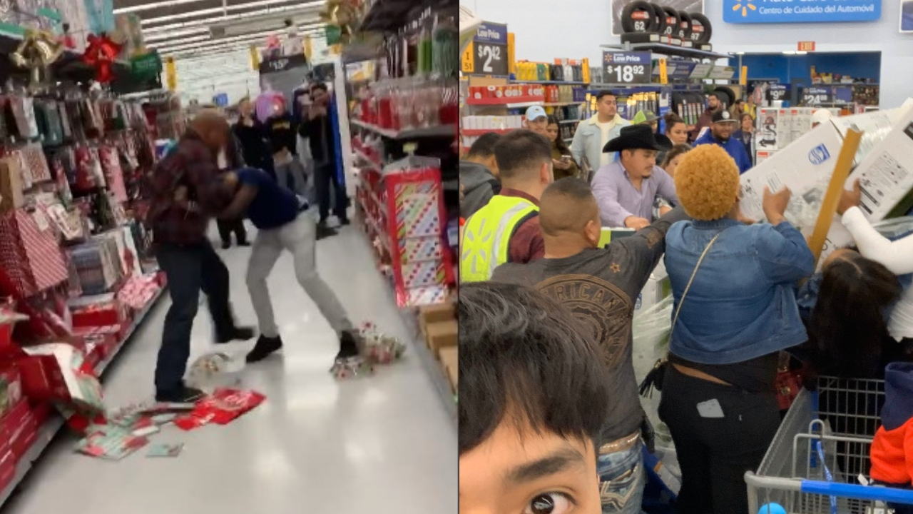 Black Friday fights caught on video land shoppers on Santa's naughty list