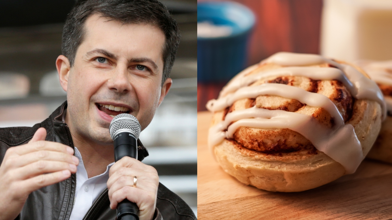 Pete Buttigieg eating cinnamon roll 'like a chicken wing' draws ridicule online