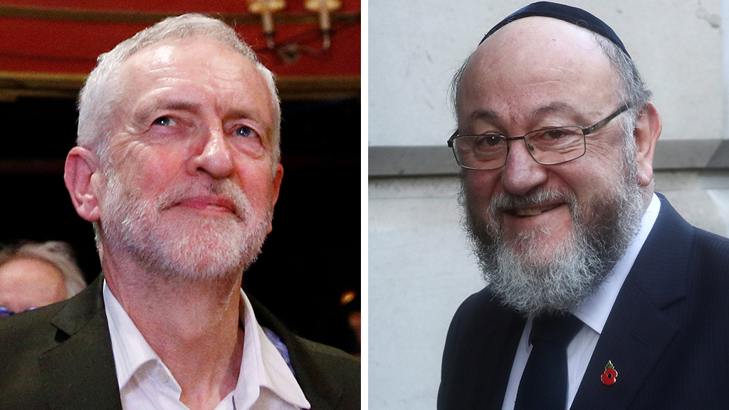 Westlake Legal Group Corbyn-Mirvis_REUTER UK chief rabbi slams Labour Party over anti-Semitism claims: 'The very soul of our nation is at stake' Talia Kaplan fox-news/world/world-regions/united-kingdom fox-news/world/world-regions/europe/brexit fox-news/world/world-politics fox-news/world/religion/judaism fox news fnc/world fnc article 25c3b52c-8f92-5bab-a5f6-a0aa065c4a00