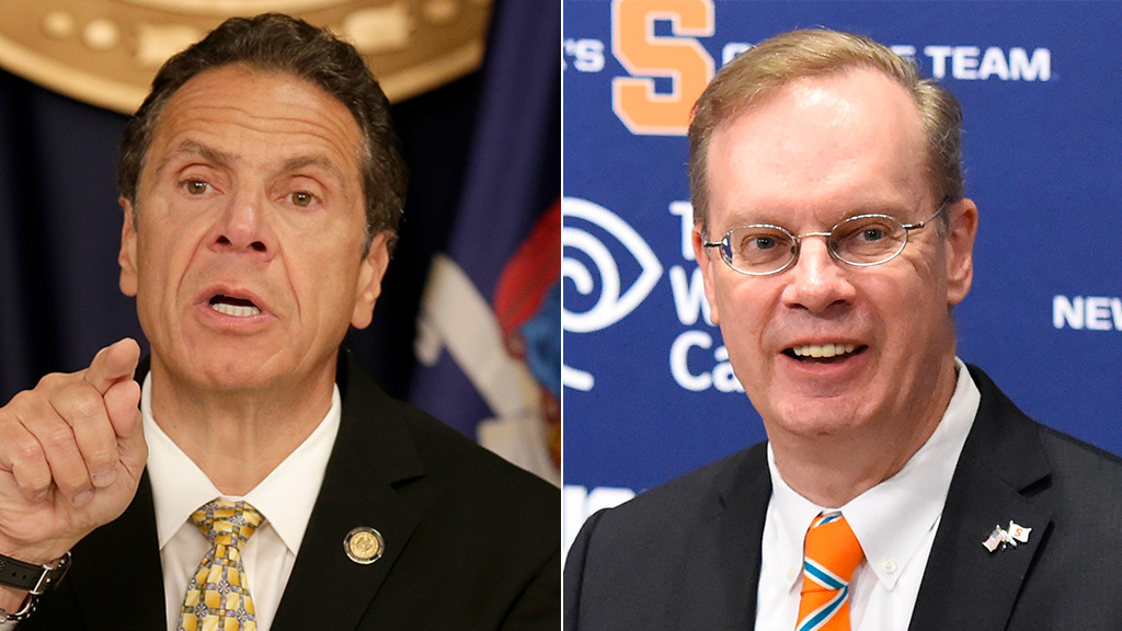 Cuomo slams Syracuse head, says none of his actions 'instills confidence' after white supremacist manifesto...