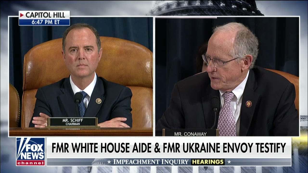 GOP lawmaker slams Schiff during impeachment hearing, demands proof of whistleblower 'immunity'