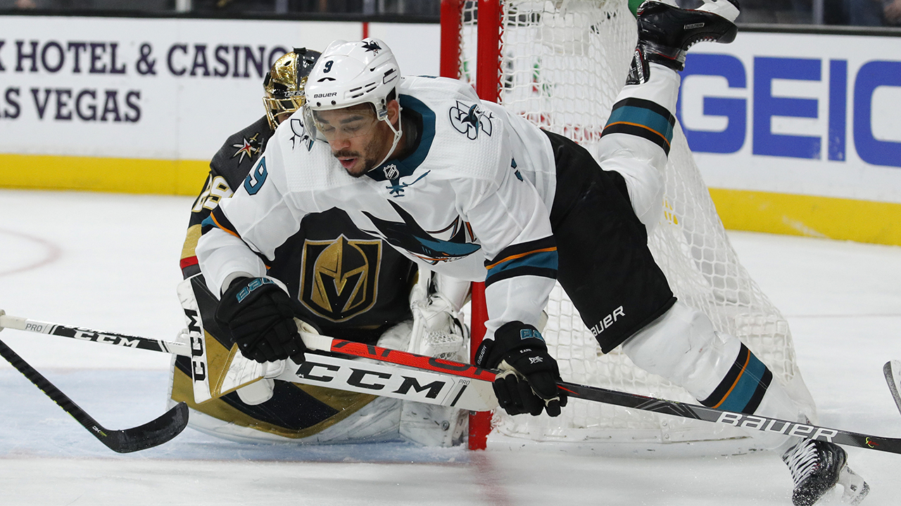 San Jose Sharks' Evander Kane gesteuert über casino Probleme vs. Vegas Golden Knights