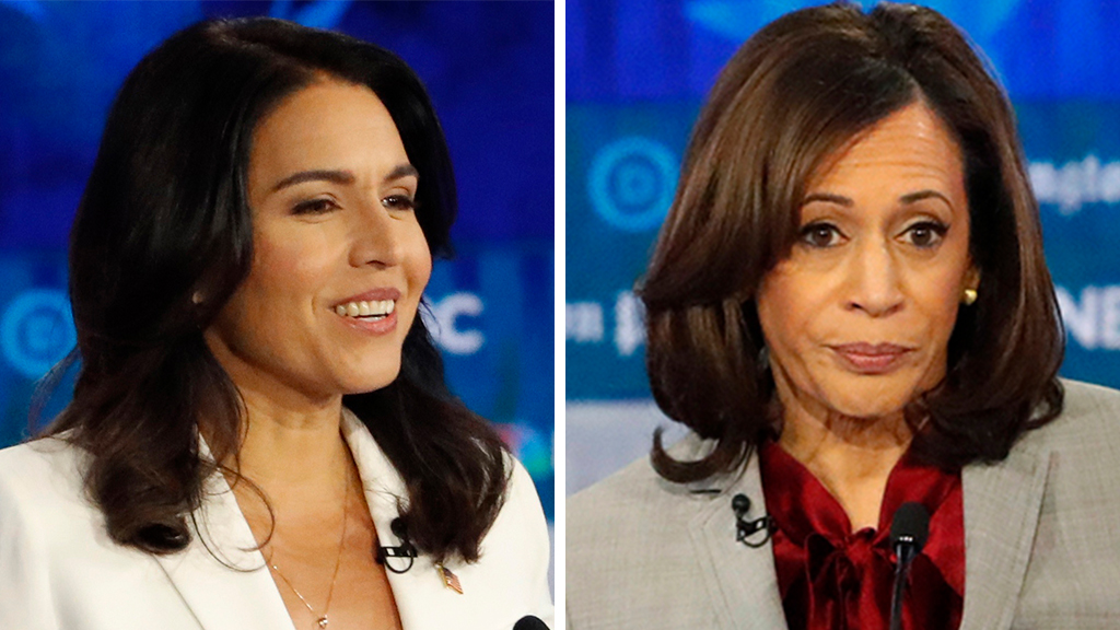 Westlake Legal Group Gabbard-Harris_AP Gabbard accuses Harris of 'lies and smears' in fiery debate clash fox-news/politics/2020-presidential-election fox-news/person/tulsi-gabbard fox-news/person/kamala-harris fox news fnc/politics fnc Brooke Singman article 3977a4ab-6cc6-5f5f-ac48-96fff2793ab8