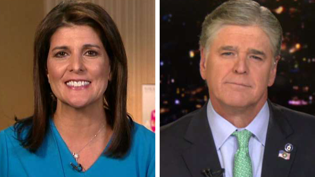 Westlake Legal Group Haley-Hannity Nikki Haley: Democratic leadership, candidates are the only people mourning Soleimani death Yael Halon fox-news/shows/hannity fox-news/politics/foreign-policy/middle-east fox-news/person/nikki-haley fox-news/media/fox-news-flash fox news fnc/media fnc article 6a30e50f-9d44-54cd-a040-6281cde49b95