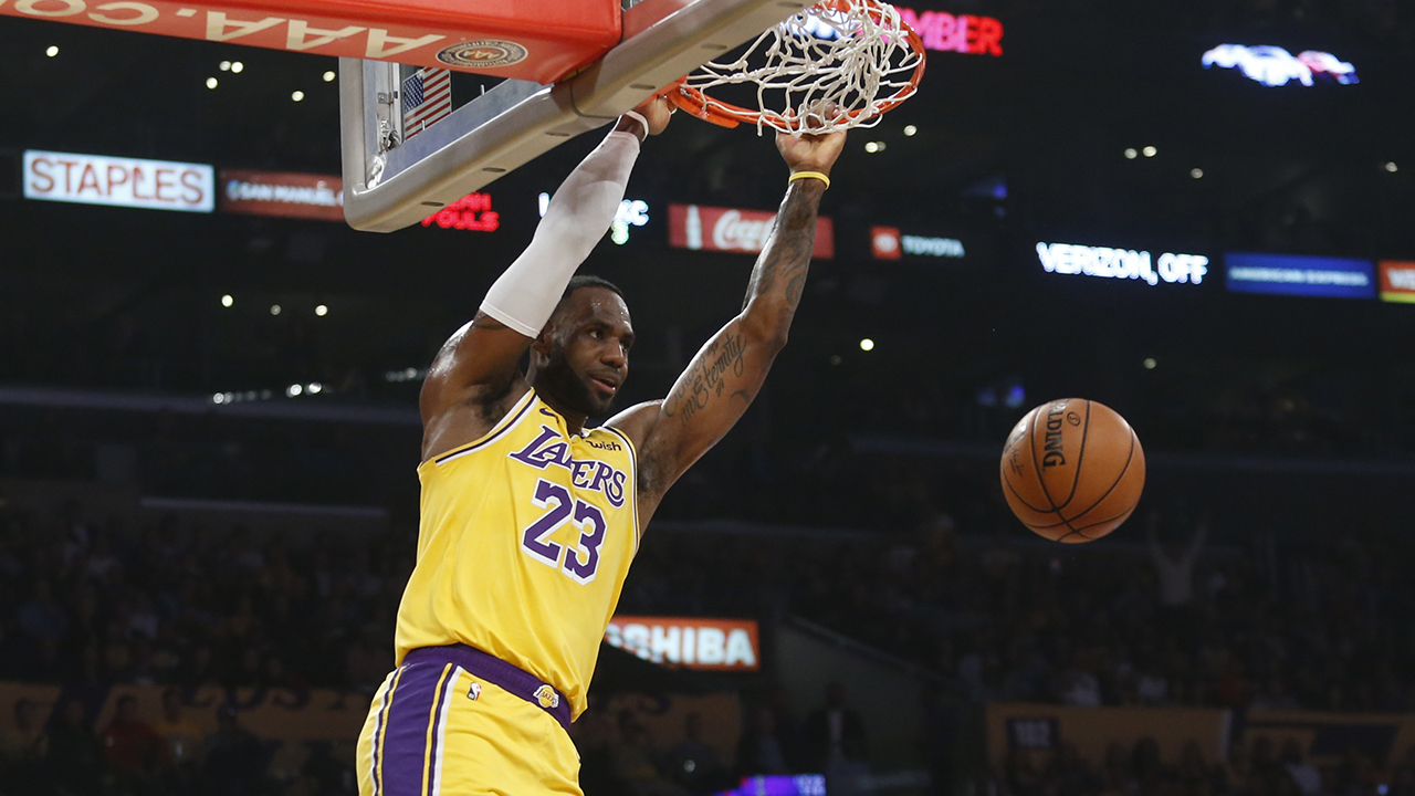 Westlake Legal Group LeBron-James2 LeBron sets triple-double mark, Lakers hold off OKC 112-107 fox-news/sports/nba/los-angeles-lakers fox-news/sports/nba fox-news/person/lebron-james fnc/sports fnc Associated Press article 7a48285e-fb16-5818-9cc8-c8ea5fd579df