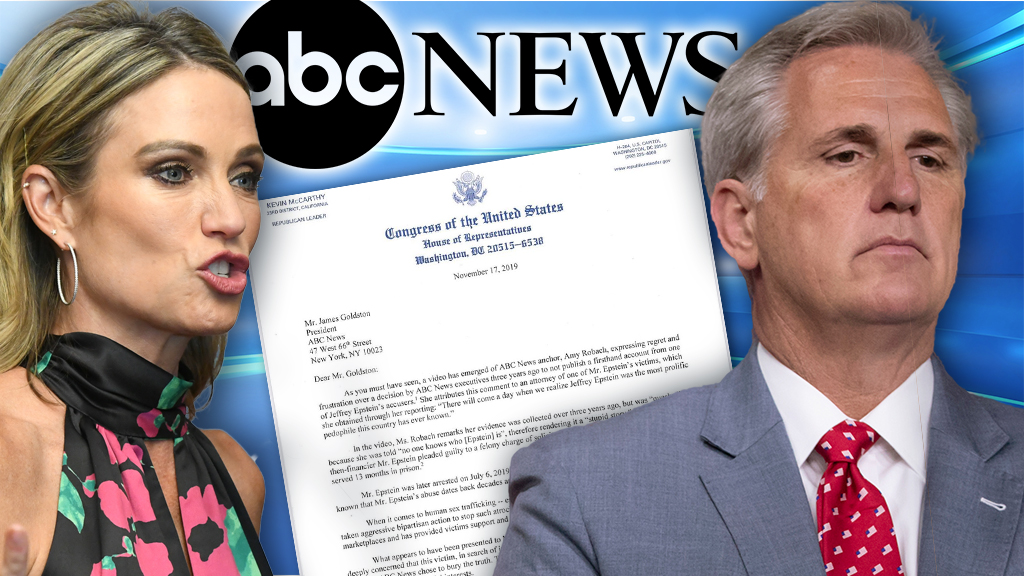 Westlake Legal Group McCarthy-Robach-ABC Jeffrey Epstein controversy: ABC News must explain why it spiked story, House Republicans say in letter Talia Kaplan fox-news/us/crime/sex-crimes fox-news/politics/house-of-representatives/republicans fox-news/person/kevin-mccarthy fox-news/person/jeffrey-epstein fox-news/entertainment/media fox news fnc/media fnc article 80d75795-52f9-5e70-b921-8304045bad4f