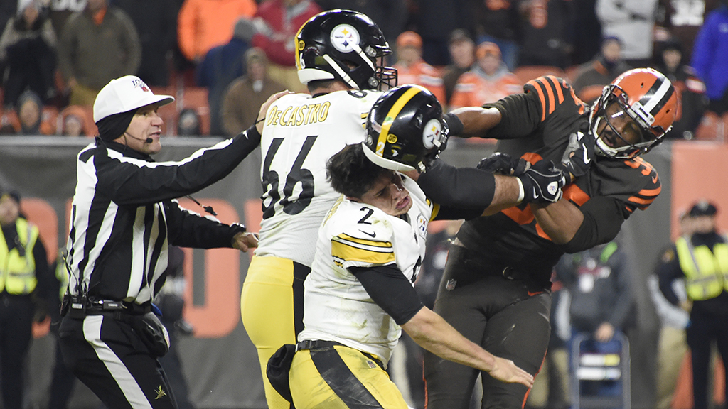 NFL found 'no evidence' Mason Rudolph hurled slur at Myles Garrett, reportedly had no sound from brawl