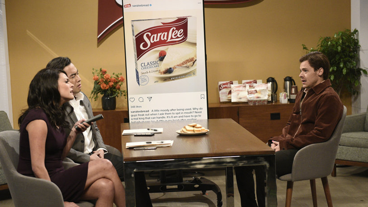 Westlake Legal Group SNLSTYLES1 Sara Lee responds to Harry Styles' inappropriate 'SNL' sketch about the brand New York Post fox-news/entertainment/saturday-night-live fox-news/entertainment/genres/viral fox-news/entertainment/celebrity-news fox-news/entertainment fnc/entertainment fnc Eric Hegedus article 8b29ce11-b395-58fe-9c49-233051a84b33