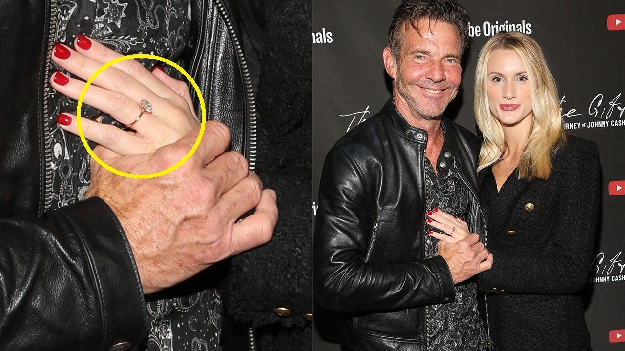Dennis Quaid shows off Laura Savoie's engagement ring