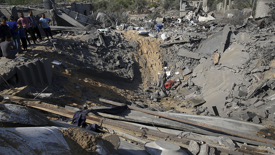 Israeli airstrikes flatten Gaza terrorist group's facilities after rocket fire