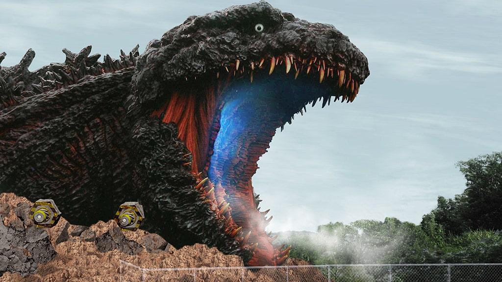 Godzilla αξιοθέατα στην Ιαπωνική θεματικό πάρκο για να χαρακτηρίσει το