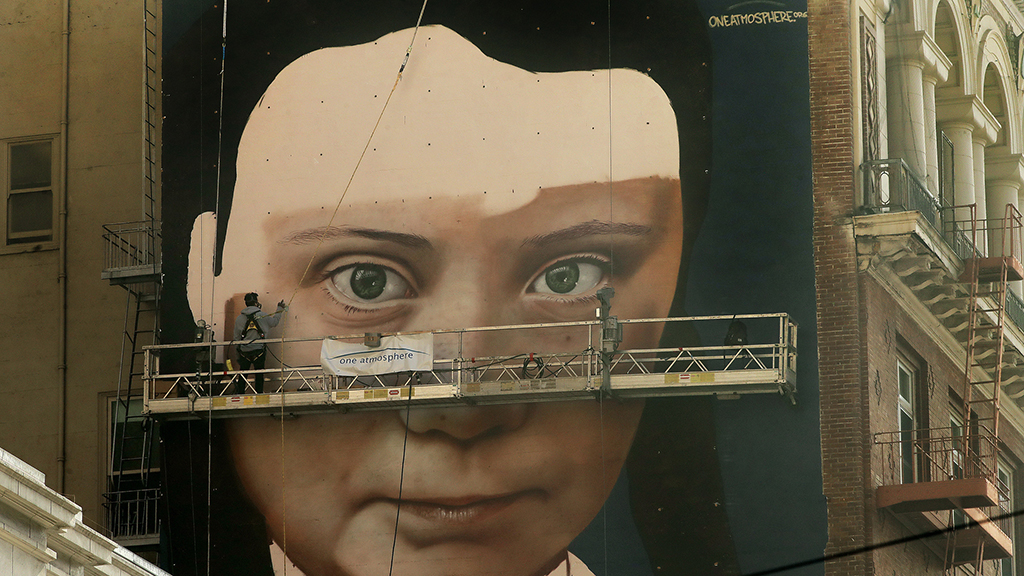 Greta Thunberg mural in San Francisco stirs controversy over use of spray paints