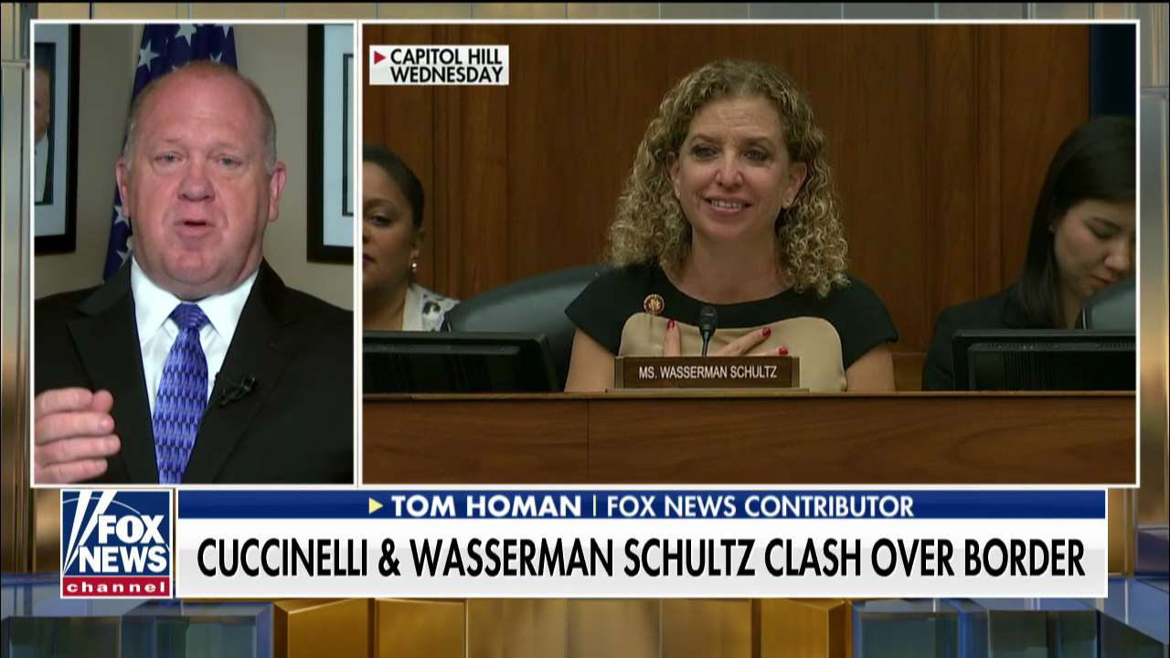 Tom Homan hits back after Wasserman Schultz claims Trump immigration policy driven by 'white supremacy'