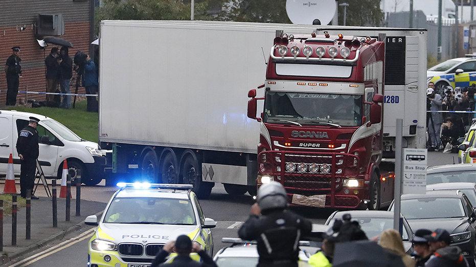 British police make another arrest after migrants found dead inside refrigerated truck