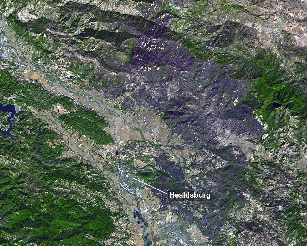 California's Kincade Fire has a huge burn scar that can be seen from space