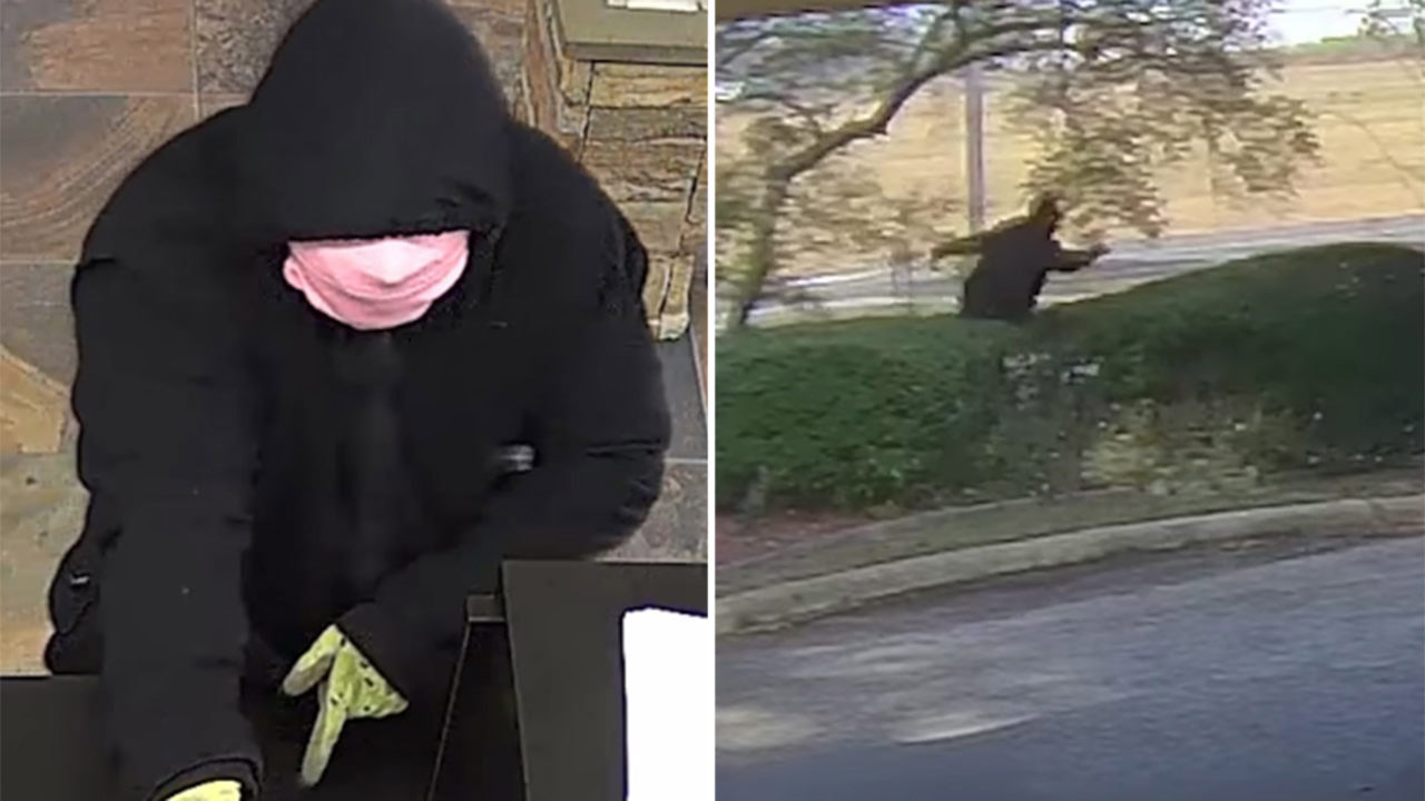 Louisiana bank robber seen in video tripping several times during getaway