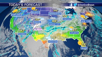 Snow for parts of the Southwest, Great Basin and Rockies; rain for Southern and Central Plains
