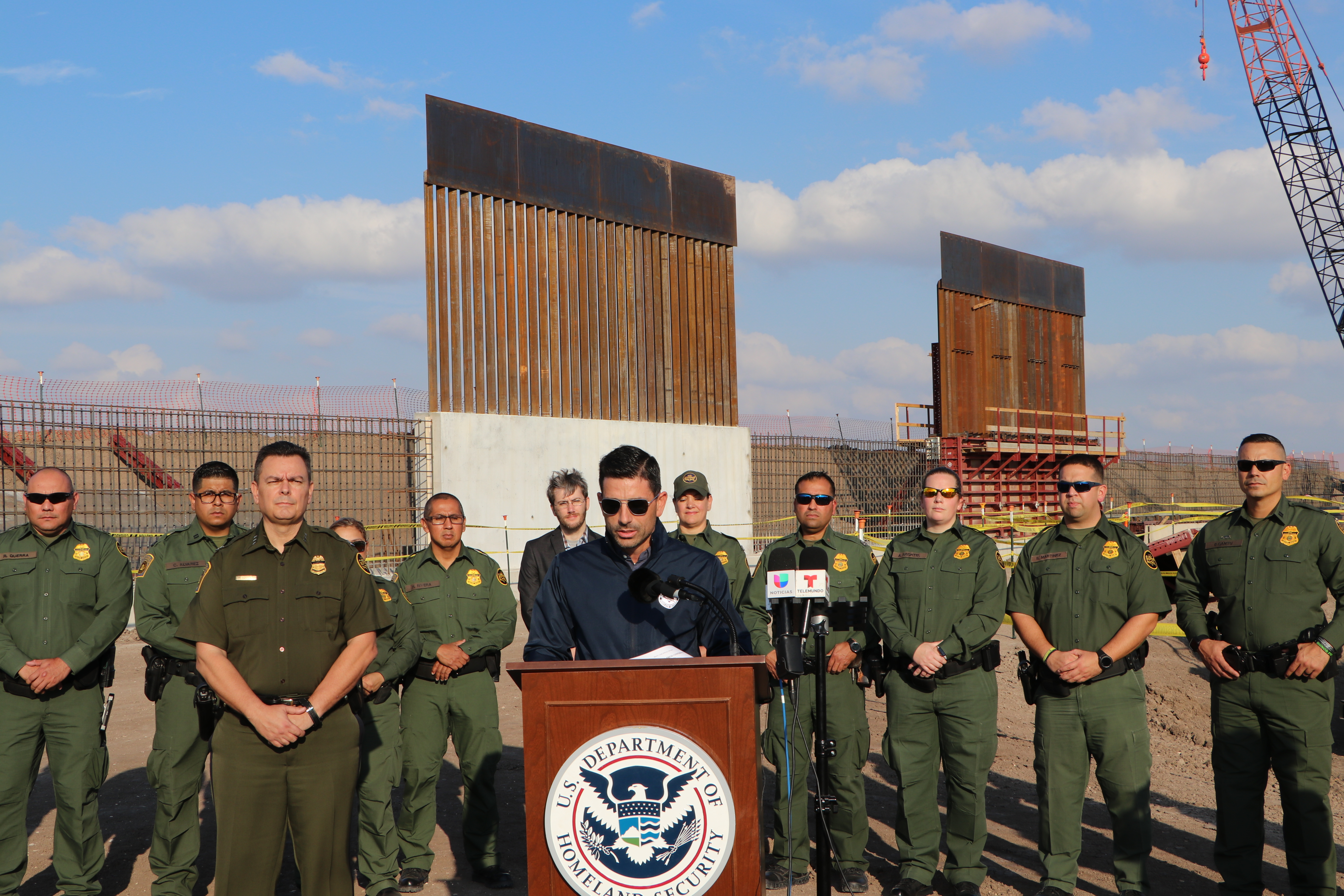 New acting DHS Chief Chad Wolf tours new border wall as construction ramps up, calls it 'common sense'