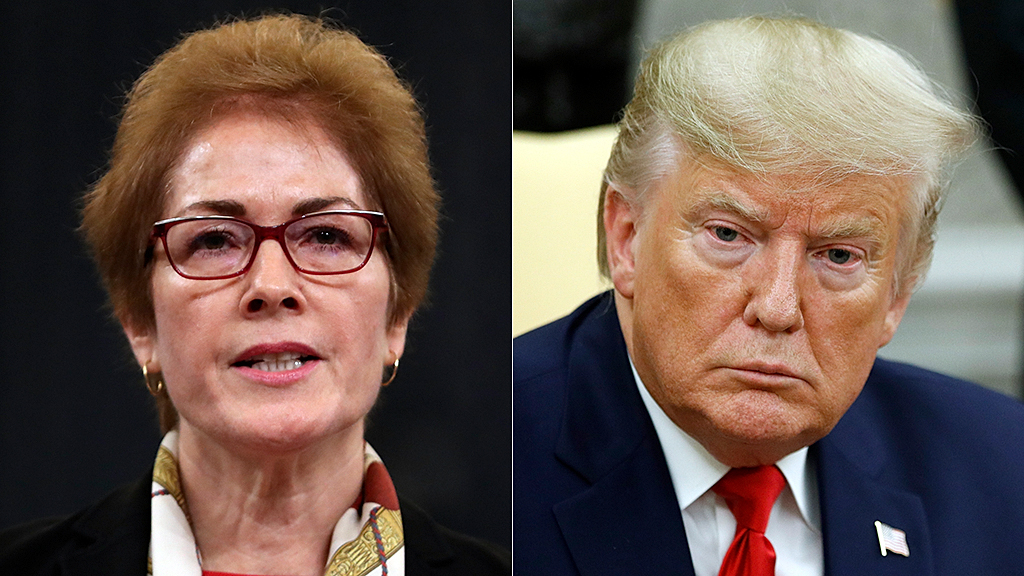 Trump attacks Marie Yovanovitch during impeachment hearing, says everywhere she went 'turned bad'