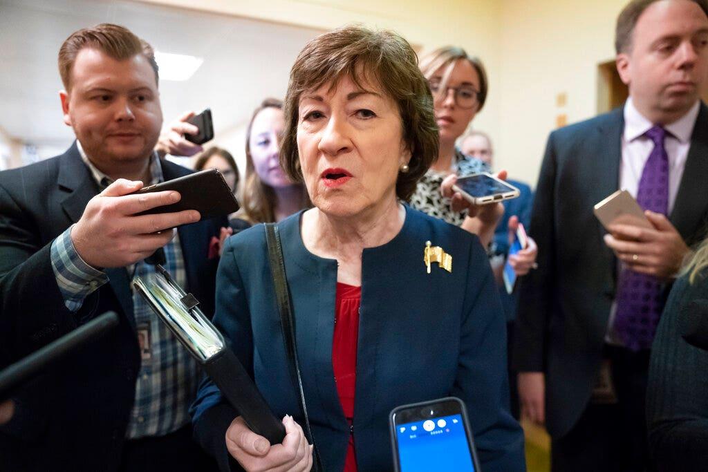 'Betäubt' Sen. Collins widersprochen Nadler die Anklage Anklage im Hinweis zu Roberts