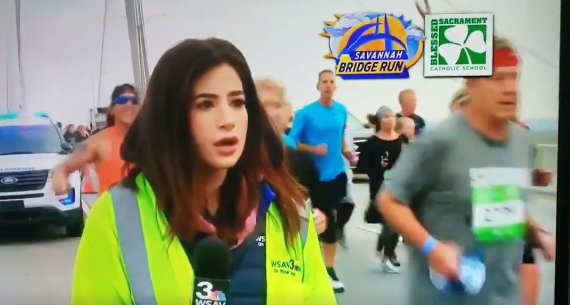 Runner who slapped TV reporter's behind speaks out