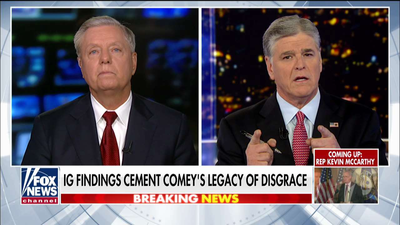 Westlake Legal Group 463d2616-ENC3_132205905344270000-1 Lindsey Graham says 'arrogant' Comey did more damage to FBI than J. Edgar Hoover, wants Rosenstein to testify fox-news/tech/topics/fbi fox-news/shows/hannity fox-news/politics/justice-department fox-news/person/lindsey-graham fox-news/person/james-comey fox-news/person/donald-trump fox-news/media/fox-news-flash fox-news/media fox news fnc/media fnc Charles Creitz article 0aadff19-7be4-5f66-8004-be9ed469d010
