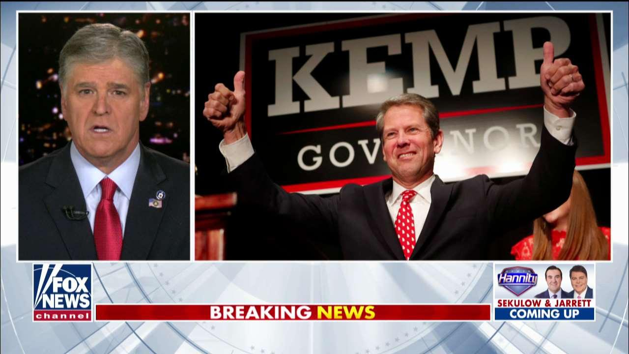 Sean Hannity questions Georgia gov's Senate pick, presses for 'rock star' Rep. Doug Collins