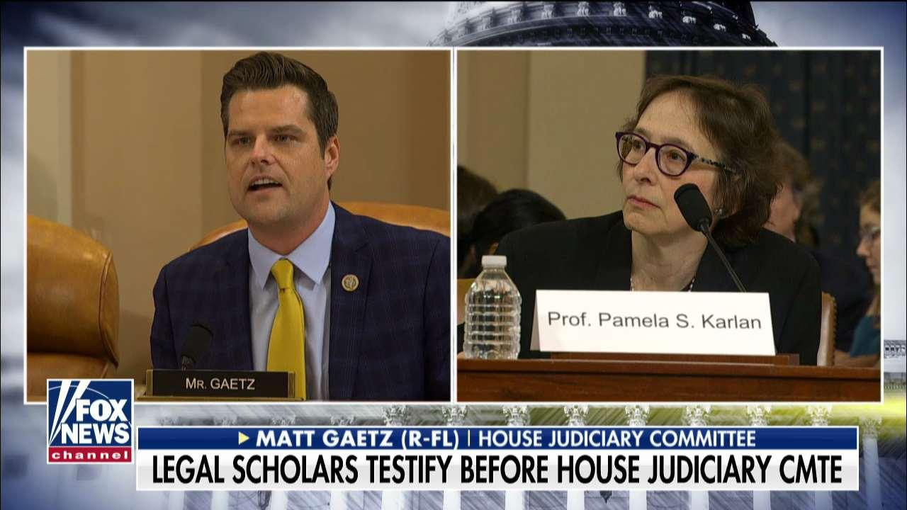 Westlake Legal Group 694940094001_6113014289001_6113016627001-vs Matt Gaetz grills impeachment witnesses over Democratic donations, slams professor's dig at Barron Trump fox-news/us/us-regions/southeast/florida fox-news/us/education/college fox-news/politics/trump-impeachment-inquiry fox-news/politics/house-of-representatives/republicans fox-news/politics/house-of-representatives/democrats fox-news/politics/house-of-representatives fox-news/politics/executive/law fox-news/politics/executive/first-family fox-news/person/donald-trump fox-news/media/fox-news-flash fox-news/media fox news fnc/politics fnc Charles Creitz article 0fb49c1d-917b-5a56-935b-f622df2ca887