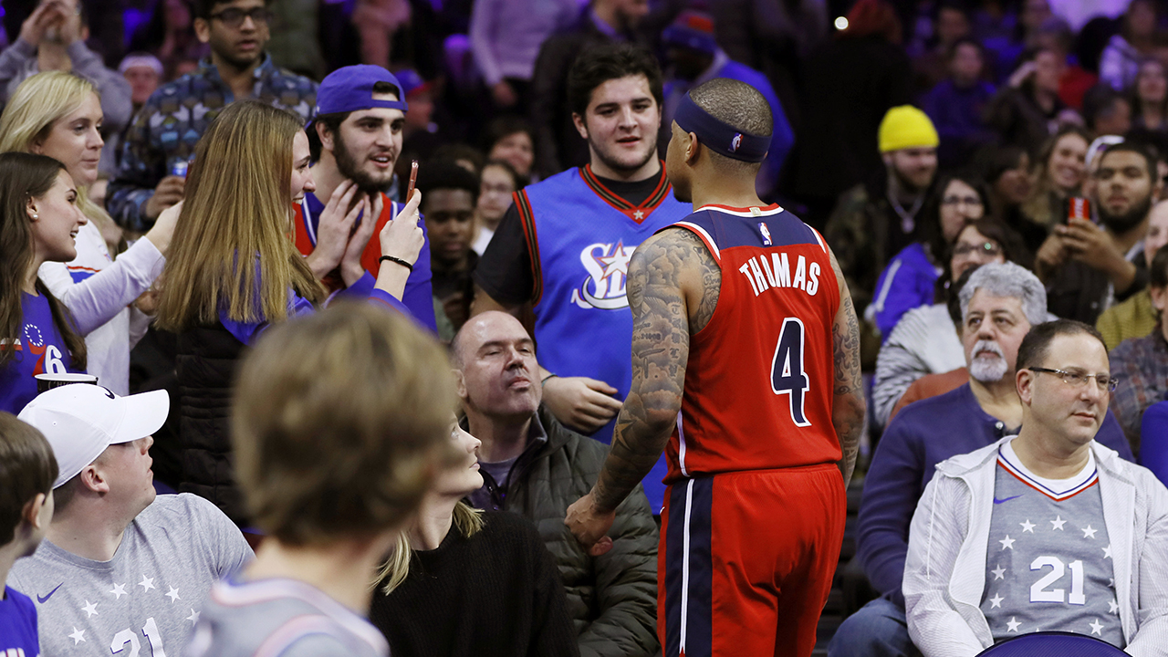 Westlake Legal Group AP-Isaiah-Thomas Wizards' Isaiah Thomas suspended 2 games, fans banned from 76ers' arena for stands confrontation Ryan Gaydos Nicole Darrah fox-news/sports/nba/washington-wizards fox-news/sports/nba/philadelphia-76ers fox-news/sports/nba fox news fnc/sports fnc article 1599f64c-53b7-5f33-9206-6f8807ecf2cd