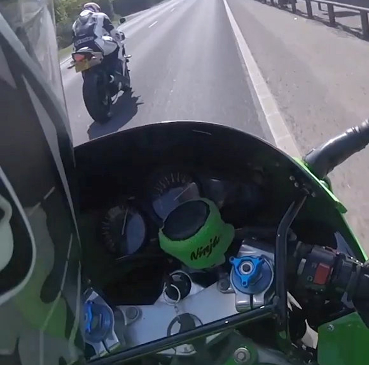 Bikers caught on camera riding 180 mph on public road