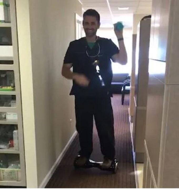 Alaska dentist rode hoverboard while performing procedure, authorities say