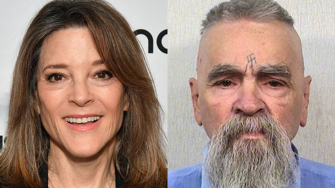 Marianne Williamson falls for fake news story about Trump pardoning Charles Manson