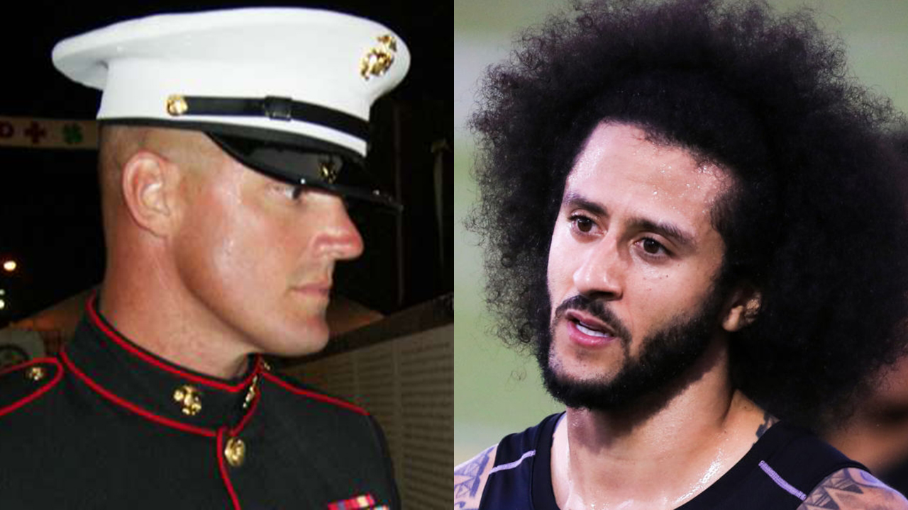 Westlake Legal Group Colin-Kaepernick-split Marine veteran turned congressional candidate calls Kaepernick a 'national disgrace' Joshua Nelson fox-news/shows/fox-friends fox-news/media/fox-news-flash fox news fnc/media fnc article 19d96fa6-eb41-50bc-b7a6-877fa39585c7
