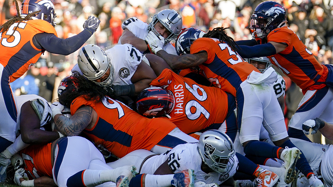 Westlake Legal Group Denver-Broncos Denver Broncos security guard injures ankle trying to take down field invader, carted off field Ryan Gaydos fox-news/sports/nfl/denver-broncos fox-news/sports/nfl fox news fnc/sports fnc article 54a6ee79-a8ee-5965-a332-3773d79a9403
